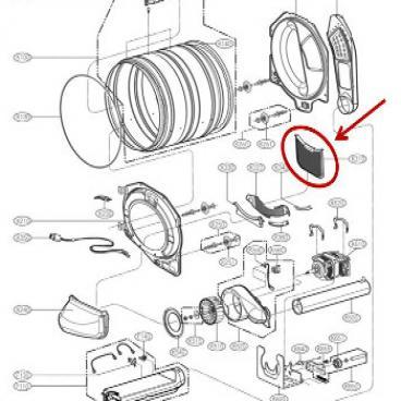 LG Part# 5231EL1003E Lint Filter Assembly (OEM)