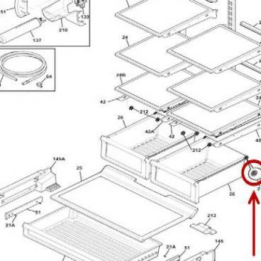Frigidaire Part# 5304508016 Crisper Drawer Wheel (OEM)