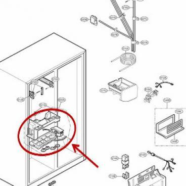LG Part# 5989JA1005G Ice Maker Assembly (OEM)