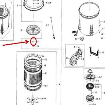 Samsung Part# 6021-001573 Hexagon Nut (OEM)