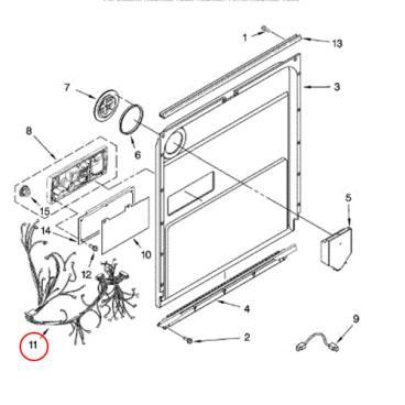 Whirlpool Part# W10413098 Wire Harness (OEM)