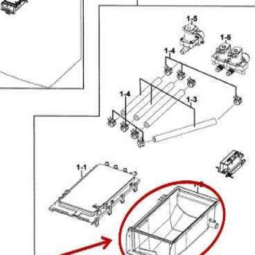 Samsung Part# DC61-01167D Drawer Housing (OEM) Lower