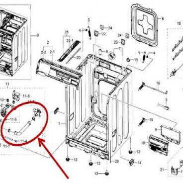Samsung Part# DC97-12278A Hose Guide (OEM)