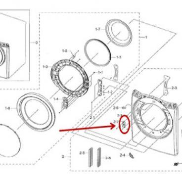 Samsung Part# DC97-18057C Door Catch (OEM)
