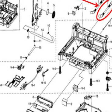 Samsung Part# DD81-02331A Drain Hose (OEM) Outer