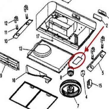 Broan Part# S97018260 Board (OEM