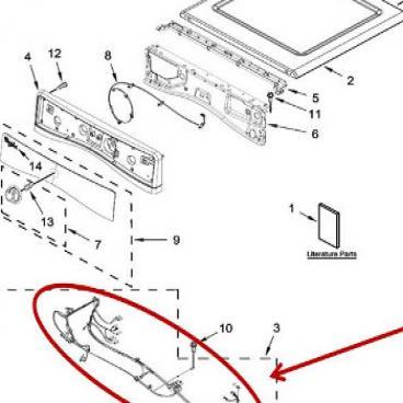 Whirlpool Part# W10637533 Wire Harness (OEM)