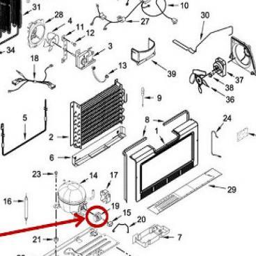 Whirlpool Part# W10896198 Compressor Start Relay (OEM)