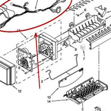 Whirlpool Part# W11029433 Wire Harness (OEM)