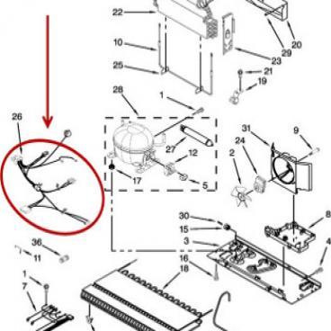 Whirlpool Part# W11109938 Wire Harness (OEM)