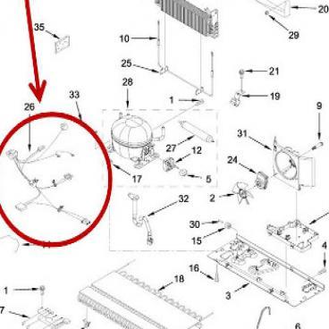 Whirlpool Part# W11224411 Wire Harness (OEM)
