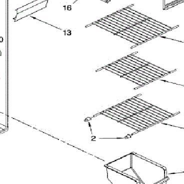 Whirlpool Part# WPW10318948 Wire Shelf (OEM)