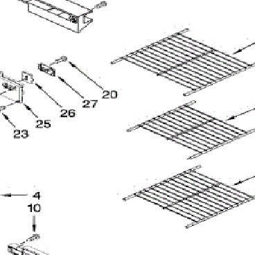 Whirlpool Part# WPW10318961 Freezer Wire Shelf (OEM)