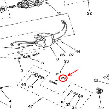 Whirlpool Part# WPW10380496 Brush-Mtr (OEM)