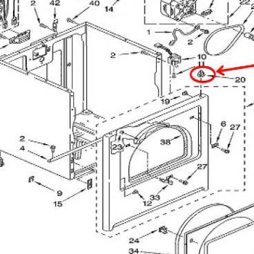 Whirlpool Part# WP18776 Top Panel Lock Clip (OEM)