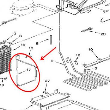 Whirlpool Part# WP2006750 Defrost Heater (OEM)