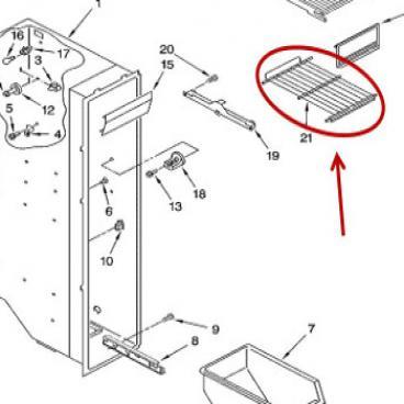 Whirlpool Part# WP2174267 Wire Shelf (OEM)