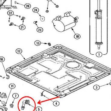 Whirlpool Part# WP22003262 Tub Hose (OEM)