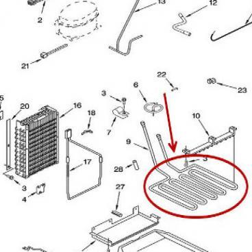 Whirlpool Part# WP2209451 Pan Heater (OEM)