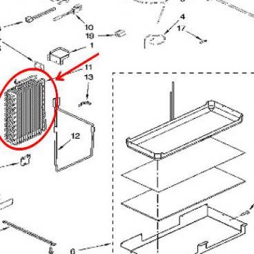 Whirlpool Part# WP2306093 Evaporator (OEM)