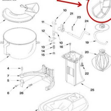 Whirlpool Part# WP243358 Mixer Beater (OEM)
