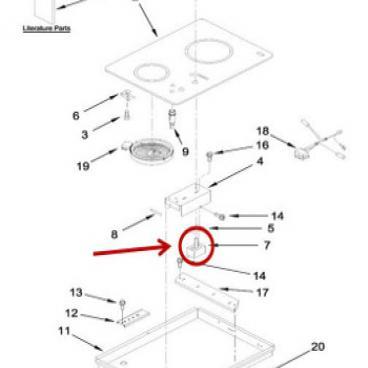 Whirlpool Part# WP3191050 Infinite Switch (OEM)
