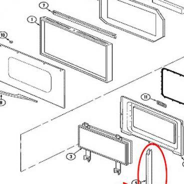 Whirlpool Part# 74008014 Oven Door Hinge (OEM)