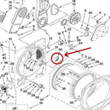 Whirlpool Part# WP8576468 Moisture Sensor (OEM)