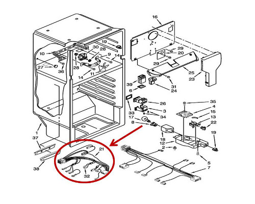 Whirlpool Part# W10183127 Wire Harness (OEM)