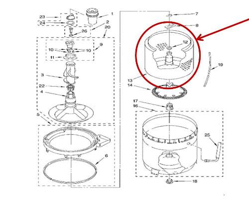 Whirlpool Part# W10389328 Inner Tub Basket (OEM)