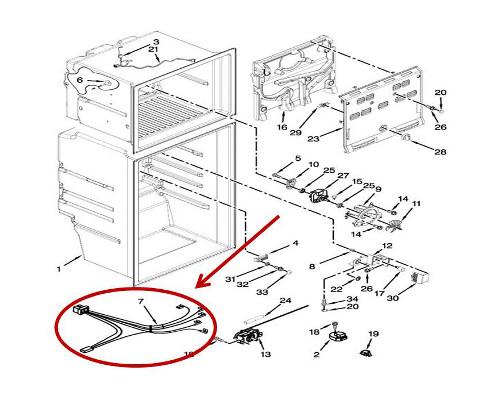 Kenmore 106.76393413 Refrigerator Parts