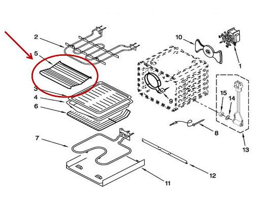 Whirlpool Part# W10758127 Wire Roasting Rack (OEM)