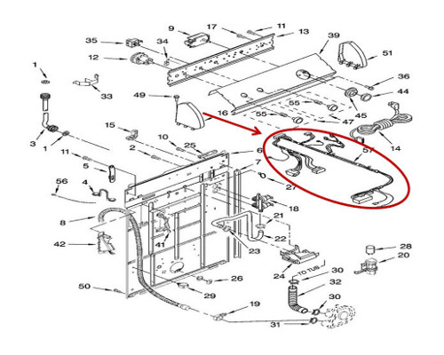 Whirlpool Part# W10851228 Wire Harness (OEM)