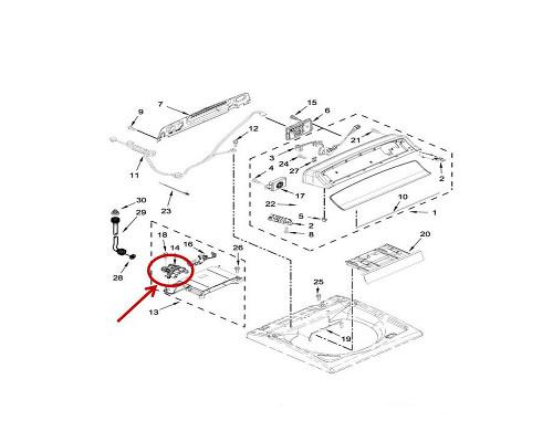 Whirlpool Part# W10853296 Water Valve (OEM)