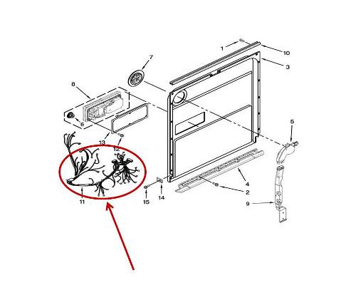 Whirlpool Part# W10861608 Main Wire Harness (OEM)