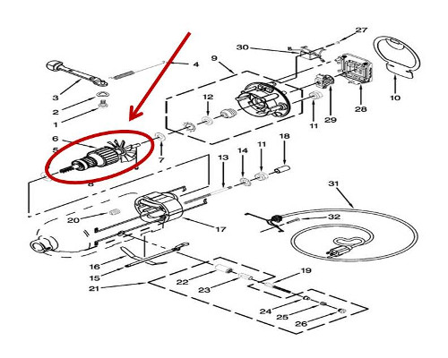 Whirlpool Part# W10900799 Armature (OEM