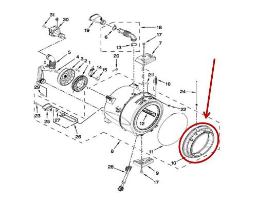 Whirlpool Part# W11173364 Door Boot Seal-Bellow (OEM)