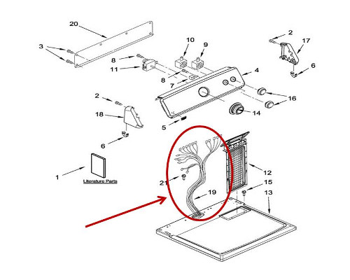 Whirlpool Part# W11246728 Wire Harness (OEM)