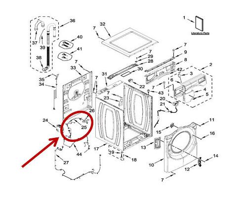Whirlpool Part# W11316252 Wire Harness (OEM)