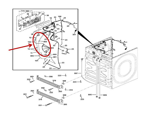 GE Part# WH19X25495 Pigtail Wiring Harness (OEM)