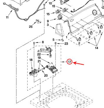 Whirlpool Part# WPW10432353 Water Inlet Valve (OEM)