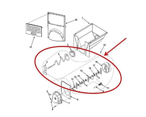 Whirlpool Part# WP12740302 Crushed Ice Agitator (OEM)
