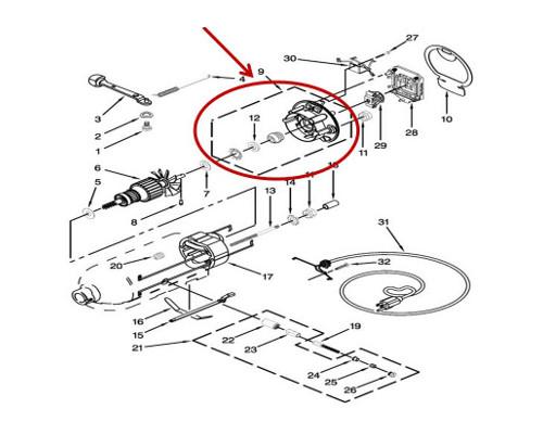 Whirlpool Part# WP3180526 Bearing Bracket (OEM)