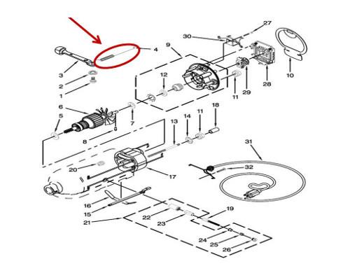 Whirlpool Part# WP3183680 Spring (OEM