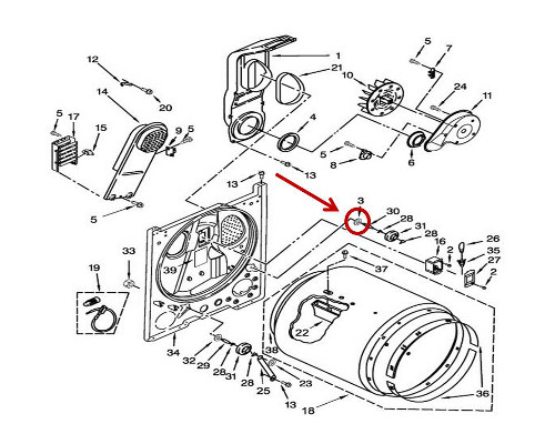 Whirlpool Part# WP3388703 Washer (OEM