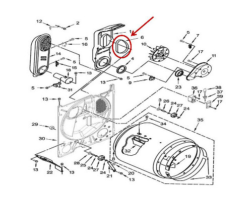 Whirlpool Part# WP339956 Seal (OEM