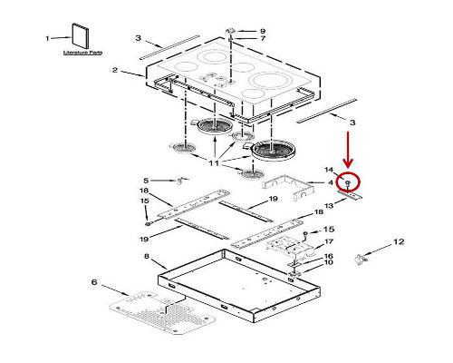 Whirlpool Part# WP3400093 Screw (OEM