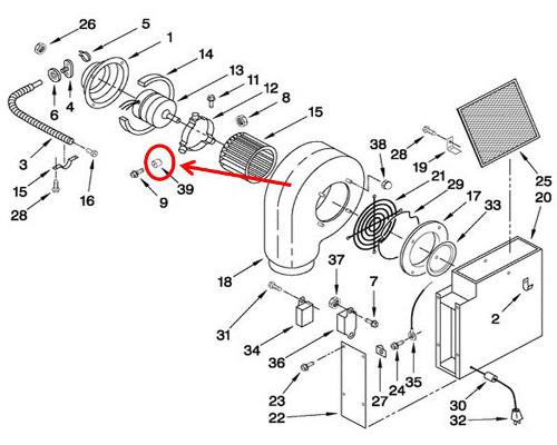 Whirlpool Part# WP71003558 Hood Motor Isolator (OEM)