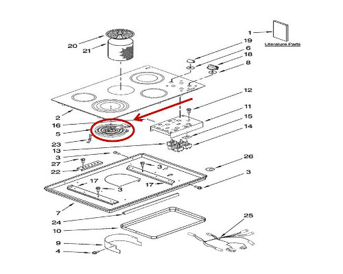 Whirlpool Part# WP8285846 Surface Element (OEM)