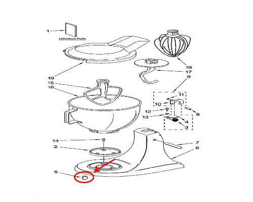 Whirlpool Part# WP9709707 Foot (OEM